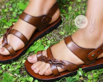 Handmade Leather Sandals, Brown Leather Sandals, Womens Sandals, Mens Leather Sandals, Leather Sandals Women, Womens Shoes, Hippie Sandals