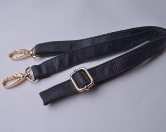 1pcs 41''-47'' Soft Black Purses Straps,Fuax leather Adjustable bag straps,Replacement Cross Body Purse Straps,Soft leather straps wt0338