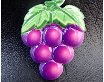 Grape fruit x 1 cabochon