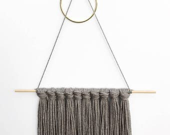 Available Now - Handmade Tapestry / Yarn Wall Hanging - Clay