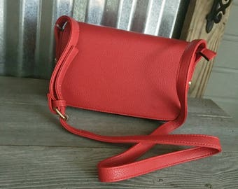 Purse/Crossbody/RED Front Flap Crossbody Bag with Monogram