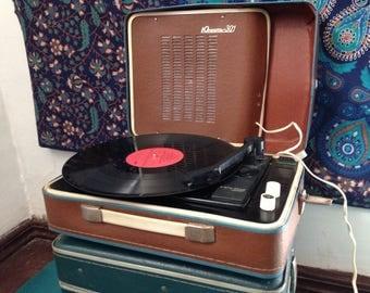 Turntable ,vinyl record player ,technics turntable, Record player, vinyl record, Working Turntable , working record player, Brown player