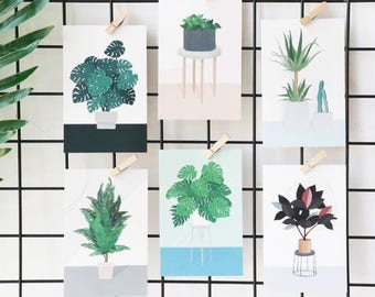 Plants + Friends Postcard Set (30 Pieces)