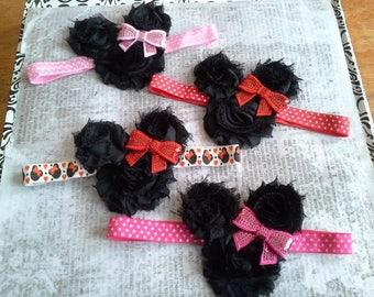 minnie headband, baby headband, girls headband, minnie mouse ears, disney headband, baby headbands, you pick, minnie head, birthday gift