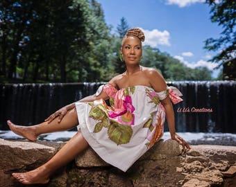 African Clothing for Women:  U A Swing Mini Dress - K u k u a Collection Summer Capsule