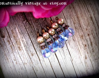 Beaded, Charms, Handmade,  Shabby Chic, Embellishments, Craft Supplies, Earrings, Fall