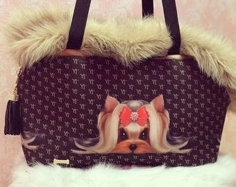 Handmade dog-carrier Bag personalized