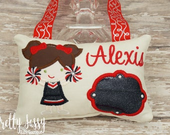Personalized Cheerleader Tooth Fairy Pillow  * Custom Cheerleader Gift * Sports Tooth Fairy Pillows * Monogrammed Tooth Fairy Pillow