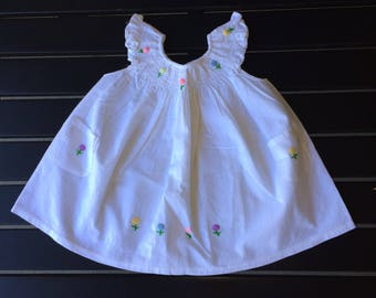Girl's embroidered 0-1T dresses
