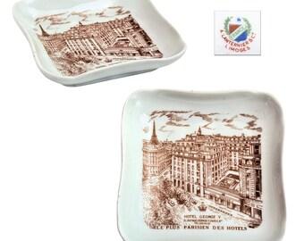 Vintage Hotel George V Paris Tip Tray Ashtray by A. Lanternier Limoges.