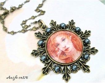 Vintage Locket necklace * AEIFE CO376 *.