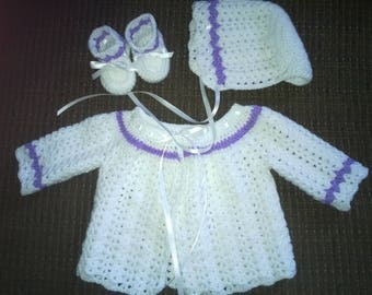 NEWBORN BABY SWEATER set
