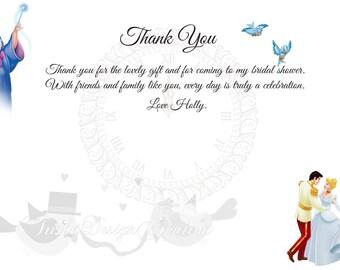 """Prince Charming Thank You Card """"Printable"""""""