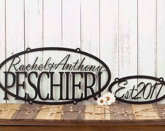 Custom Family Name and Established Sign   Personalized Sign   Outdoor Sign   Name Sign   Custom Sign   Wedding Gift   Family Name Sign