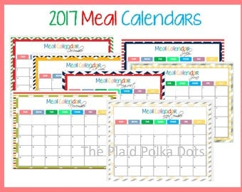 2017 Meal Planner Monthly Calendar Seasonal
