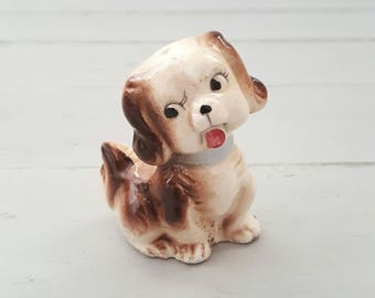 Puppy Figurine Ceramic Japan