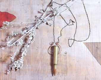 Golden Bullet Necklace