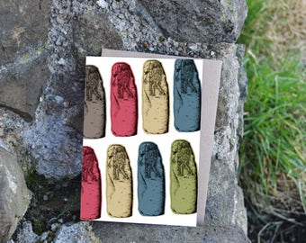 Pictish Stone Greeting Card - Collessie