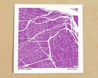 Arlington Map, Hand-Drawn Map of Arlington, Virginia