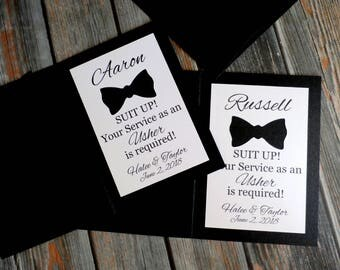 SUIT UP! Your Service is Required - Officiant | Best Man | Groomsman | Jr. Groomsman | Ring Bearer | Usher