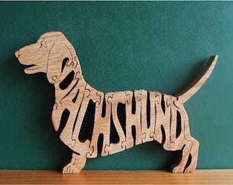 Dachshund Toy Pet Puzzle Cut On Scroll Saw