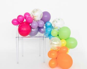 Balloon Garland Kit - Rainbow Bright - Rainbow Balloons - Rainbow Party Decorations - Girly Rainbow Party - Bright Rainbow Balloon Garland