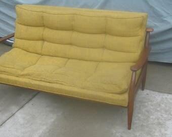 Danish Modern Small Loveseat/Sofa