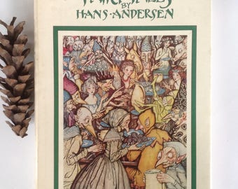 Fairy Tales, Hans C. Andersen, Arthur Rackham, Illustrations, Color BW, Lovely Edition, Gift Display, Collection, Framing