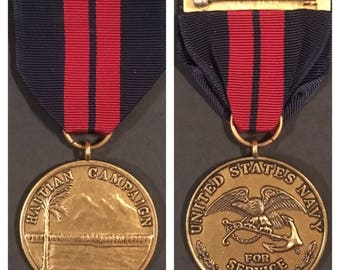 Us navy 1st haitian campaign current issue medal