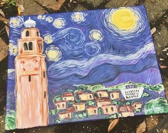 Custom Starry Night Cityscape