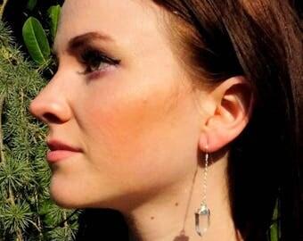 July 4th SALE // Quartz Earrings // Crystal Earrings // Silver Earrings // Quartz // Quartz Crystal // Raw Quartz