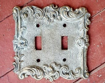 Vintage American Tack & Hardware Co. Double Light Switch Plate # 60TT dated 1967