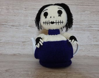 Knitted Tea Cosy  Cosie Cozy Goth Gothic Girl Emo Shabby Chic