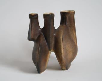 Rare Dutch brown Loré vase, designed by Matt Camps