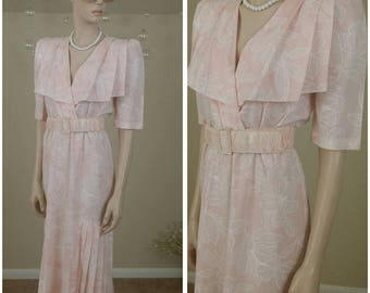 pink Vintage 80s dress by Oops California Size 5-6