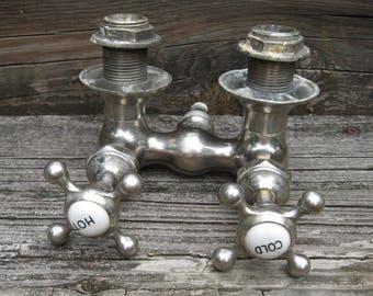 claw foot tub water faucet spigot valve brass bathroom fixture vintage