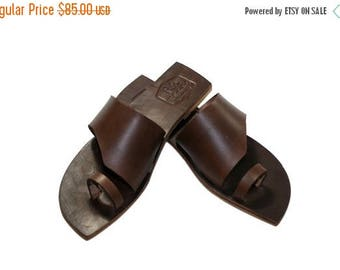 15% OFF Brown Leather Sandals for Women & Men - Design 14 - Handmade by WalkaholicS