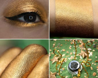 Eyeshadow: Daughter of the Sea King - Mermaid. Soft gold satin eyeshadow by SIGIL inspired.
