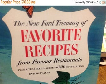 4th of July sale The New Ford Treasury of Favorite Recipes From Famous Restaurants Cookbook Vintage Cookbook