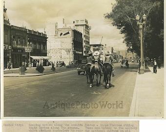 Avenida Juarez Mexico City antique photo