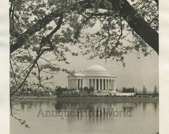 Washington DC Jefferson memorial antique art photo