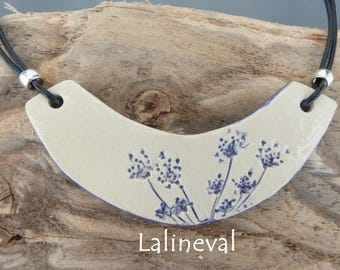 Torque ceramic blue flower print