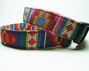 Pink or Purple Aztek Southwestern Dog Collar