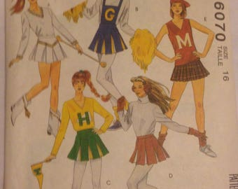 McCalls Pattern #6070 Cheerleading/Figure Skating Outfit
