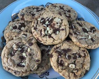 Mocha Mint Chocolate Chunk Cookies - 1 Dozen