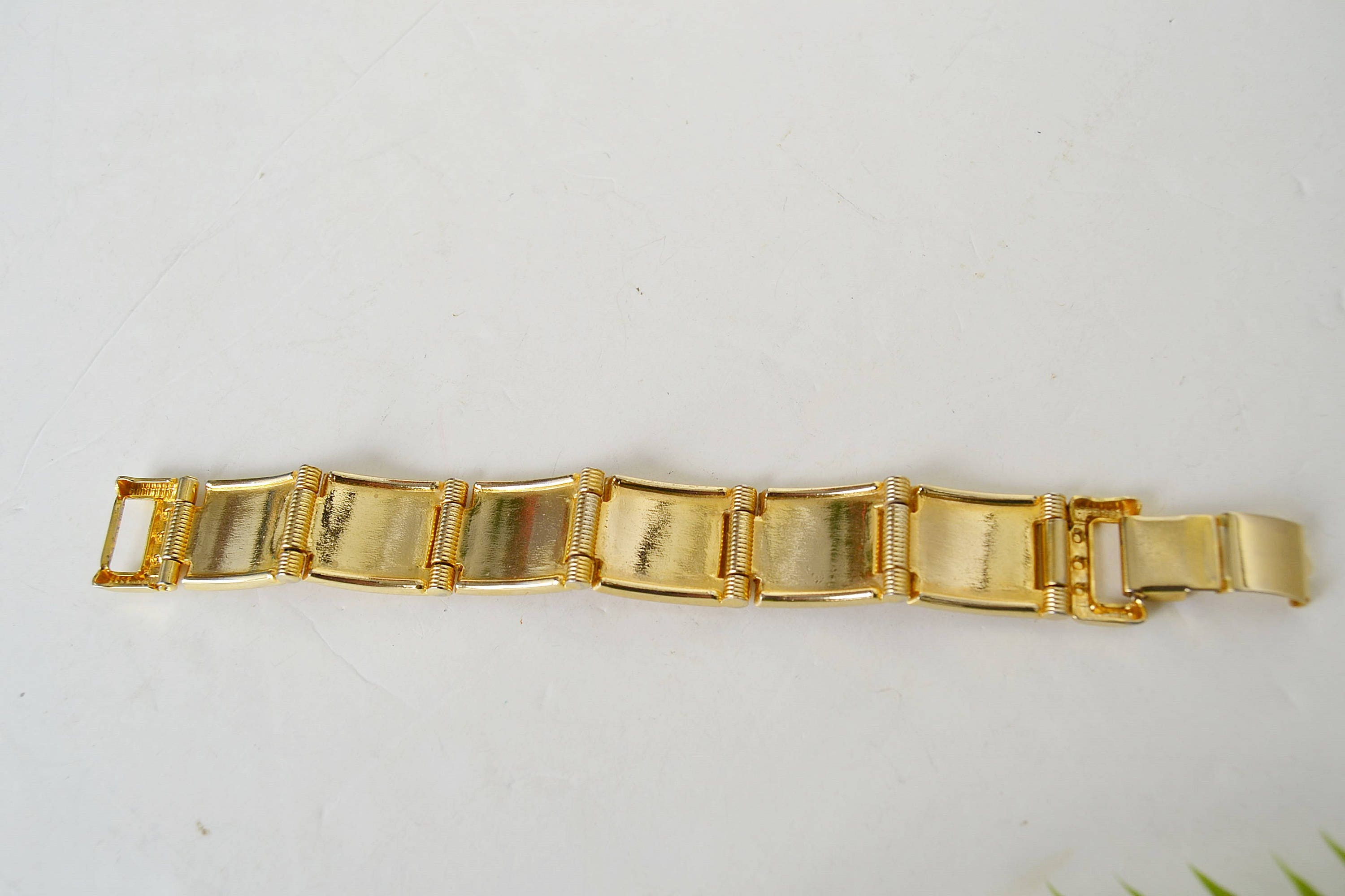 brushed bracelet vintage bangle on gold pin extra tone by etsy wide