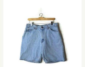 ON SALE Vintage Levi's Men's 560 Light Blue Denim Shorts from 90's*
