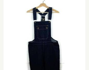 ON SALE Vintage Denim Cropped Overalls/All in One / Carpenter/Farmer/Gardening/W35