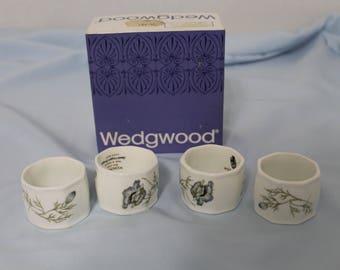 Set of Four Wedgwood Bone China Napkin Rings/Holders