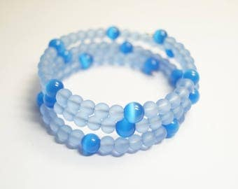 Bracelet Glassbeads Unique blue